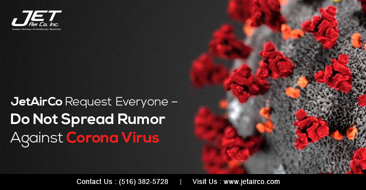 JetAirCo Request Everyone – Do Not Spread Rumor Against Corona Virus