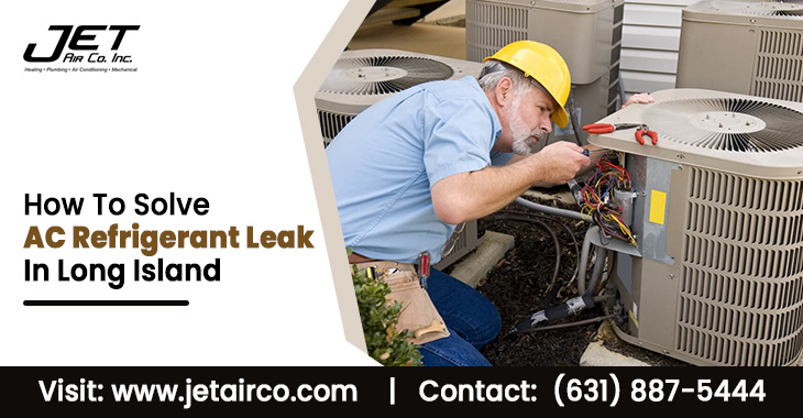 How To Solve AC Refrigerant Leak In Long Island
