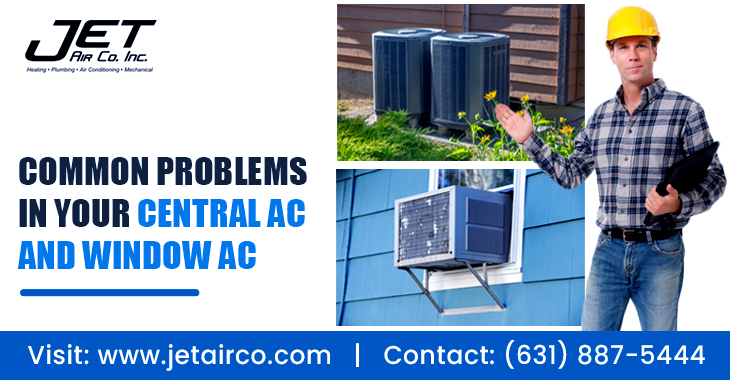 Common Problems In Your Central AC and Window AC